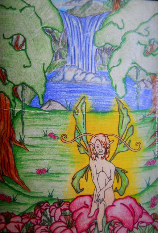 A Summer's Trip Illust., ''Faery Among the Flowers'' STEVEN JUANICO [st104].jpg